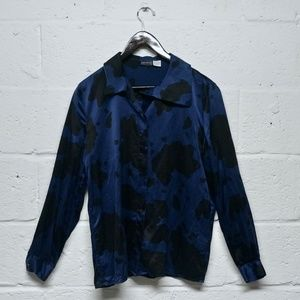 SALE Levante Silk Animal Print Button-down Blouse